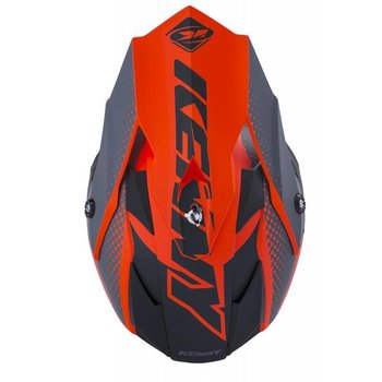 Performance Helmet Peak Kid 2018 Matt Grey Orange