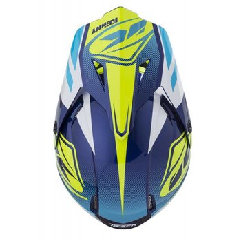 Track Helmet Peak Adult 2018 Cyan Neon Yellow