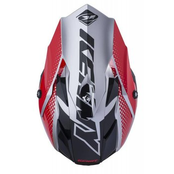 Performance Helmet Peak Adult 2018 Silver Red