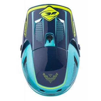 BMX Scrub Helmet Peak 2018 Aqua/Yellow