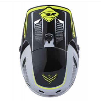 BMX Scrub Helmet Peak 2018 White Yellow
