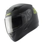 Targa Helmet Kids Black Neon Yellow