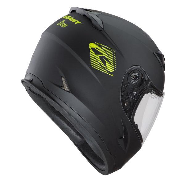 Targa Helmet Kids Black Neon Yellow 2022