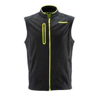Bodywarmer Black Neon Yellow