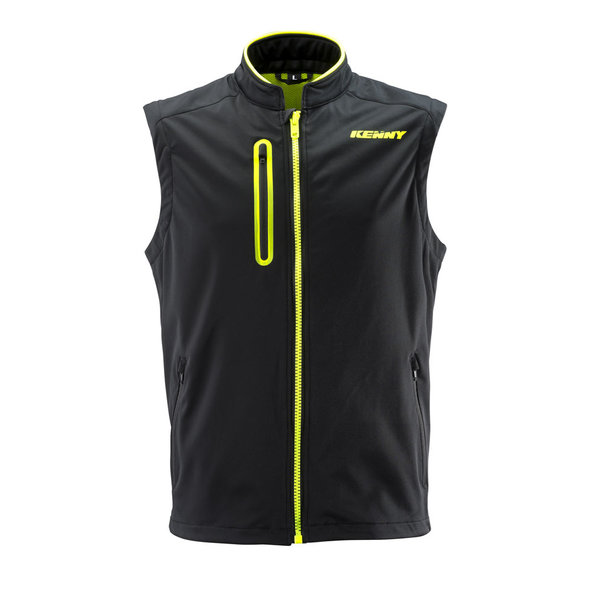 Bodywarmer Black Neon Yellow