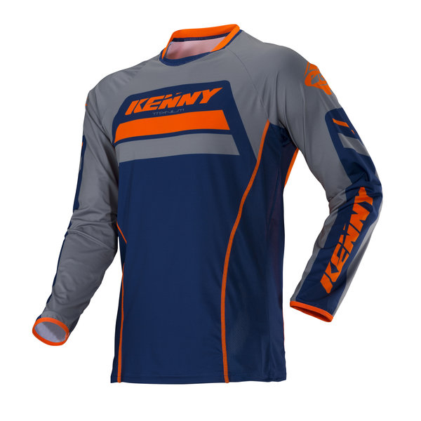 Titanium Jersey Adult Orange Grey - Copy