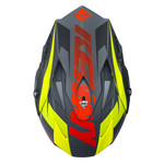 Performance helmet peak adult 2017 matt black/red/yellow