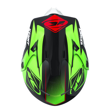 Track Helmet Peak Adult 2017 Green/Black/Red