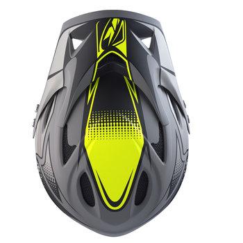 Down Hill Helmet Peak '17 Grey/Neon Yellow