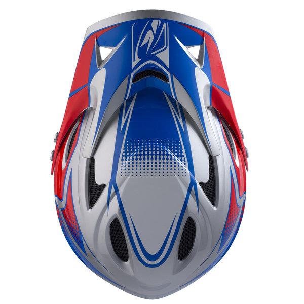 Down hill helmet peak '17 red/blue/grey