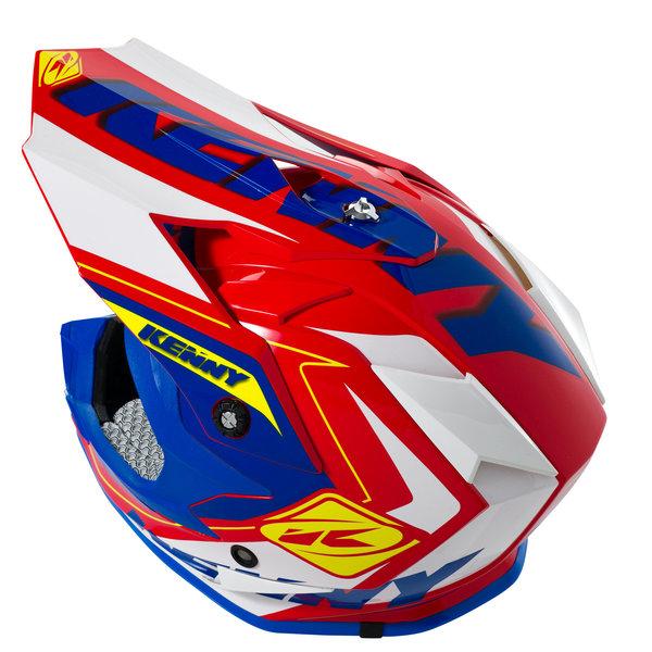 Performance Helmet Peak Adult Red/Blue/Neon Yellow