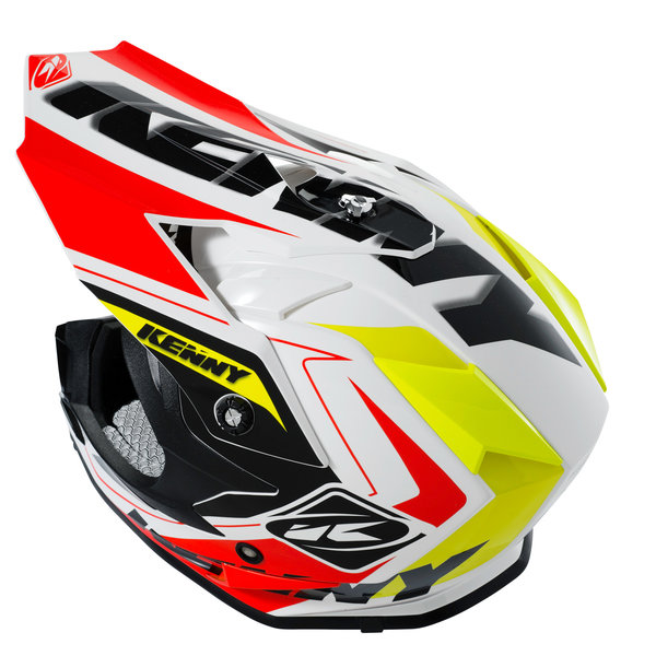 Performance Helmet Peak Adult Neon Orange/Neon Yellow