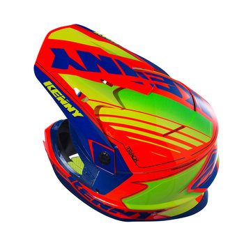 Track Helmet Peak Adult Navy/Neon Orange
