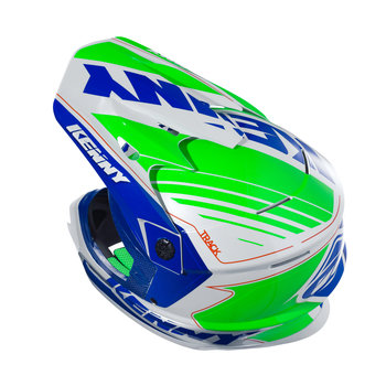 Track Helmet Peak Adult Navy/Neon Green