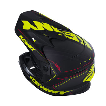 Track Helmet Peak Adult Matte Black/Neon Yellow