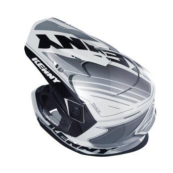 Track Helmet Peak Adult Black/White/Grey