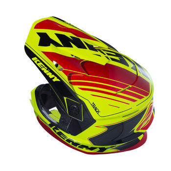 Track Helmet Peak Adult Black/Red/Neon Yellow