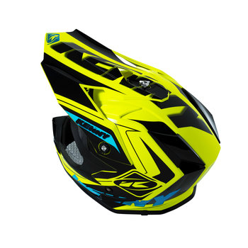 Performance Helmet Peak Kids Black/ Neon Yellow/ Cyan