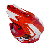 Performance helmet peak kids orang/red