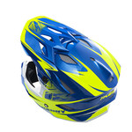 BMX Scrub helmet peak 2014 blue/neon yellow