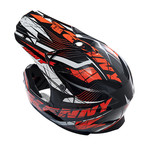 BMX Rocket helmet peak 2014 NEON ORANGE