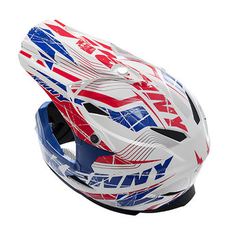 BMX Rocket helmet peak 2014 Blue/red