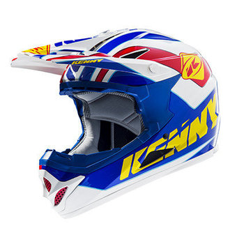 BMX Rocket Helmet Peak 2015 Blue/Yellow/Red