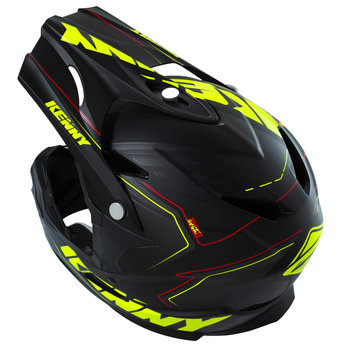 BMX Rocket Helmet Peak 2016 Matt Black/Neon Yellow