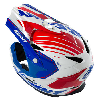 BMX Rocket Helmet Peak 2016 Blue/White/Red