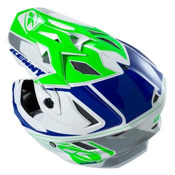 BMX Scrub Helmet Peak 2016 Silver/Blue/Neon Green