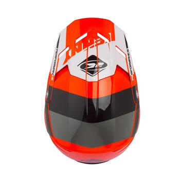 Performance helmet visor neon orange