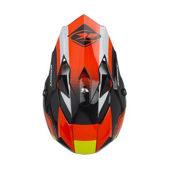 Track Kid Helmet Visor Black Orange