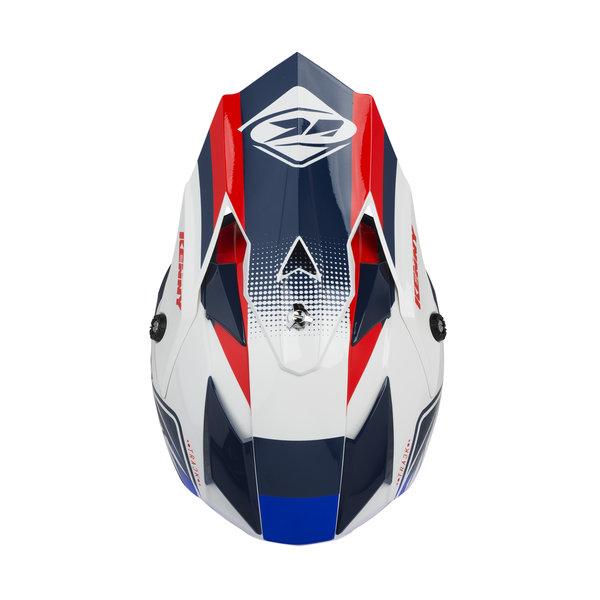 Track kid helmet visor white red