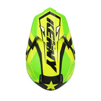 Track helmet visor green neon yellow