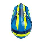 Track Helmet Visor Navy Neon Yellow