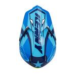 Track helmet visor navy sky blue