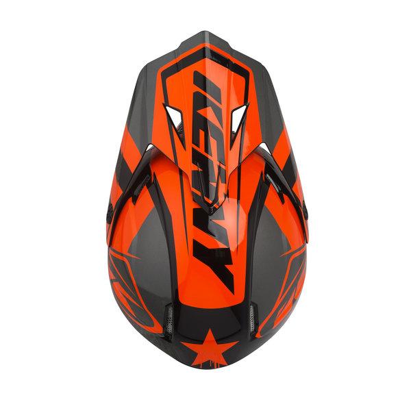 Track helmet visor orange