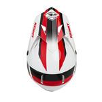 Track helmet visor white black red
