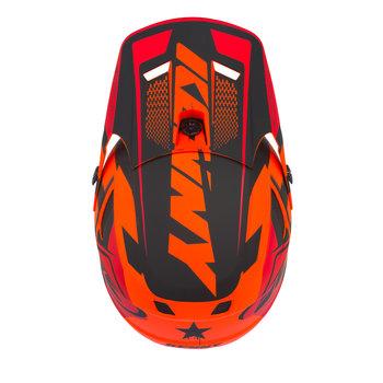 Scrub Helmet Visor Orange Black