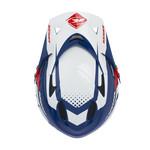 Downhill Helmet Visor Navy Red