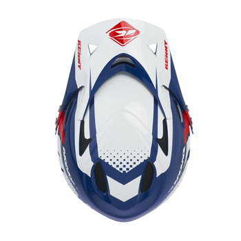 Downhill Helmet Visor Navy Red