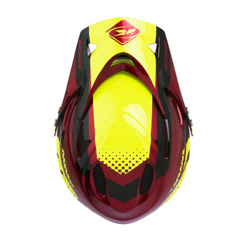 Downhill Helmet Visor Candy Red