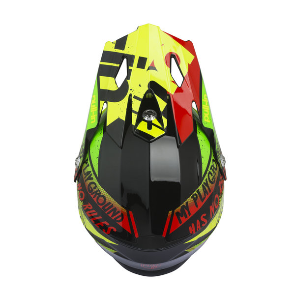 Trash Kids Helmet Visor Neon Yellow Lime