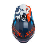 Trash Kids Helmet Visor Navy Orange