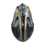 Race Helmet Visor Grey Gold