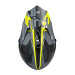 Race Helmet Visor Grey Neon Yellow
