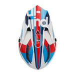 Race Helmet Visor Navy Red
