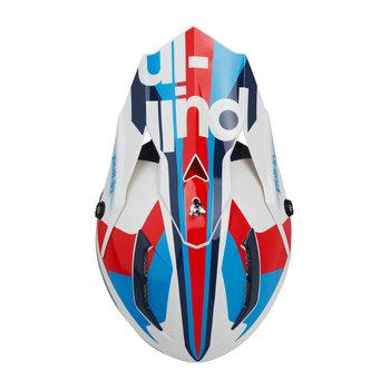 Race Helmet Visor Navy Red