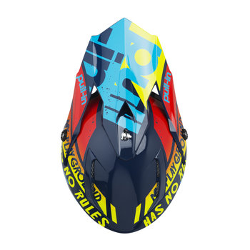 Trash Helmet Visor Cyan Red
