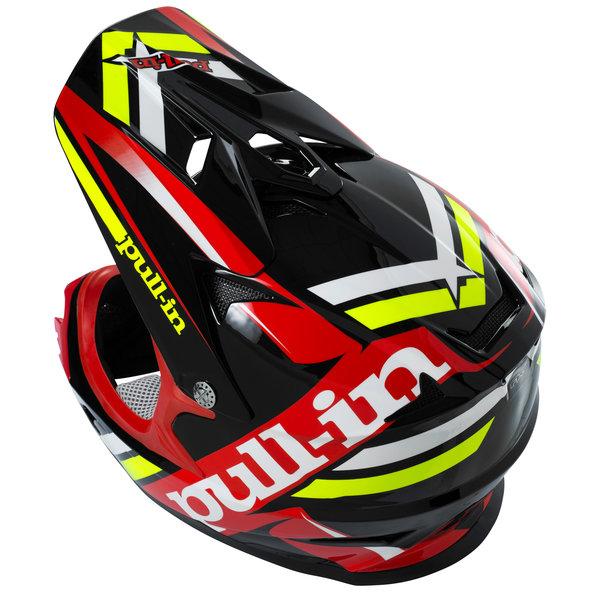 BMX/DH helmet peak peak black/red